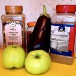 Салат экзотика с баклажаном и антоновкой