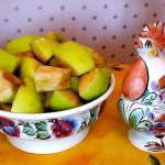 Яблоки для салата экзотика с баклажаном и антоновкой